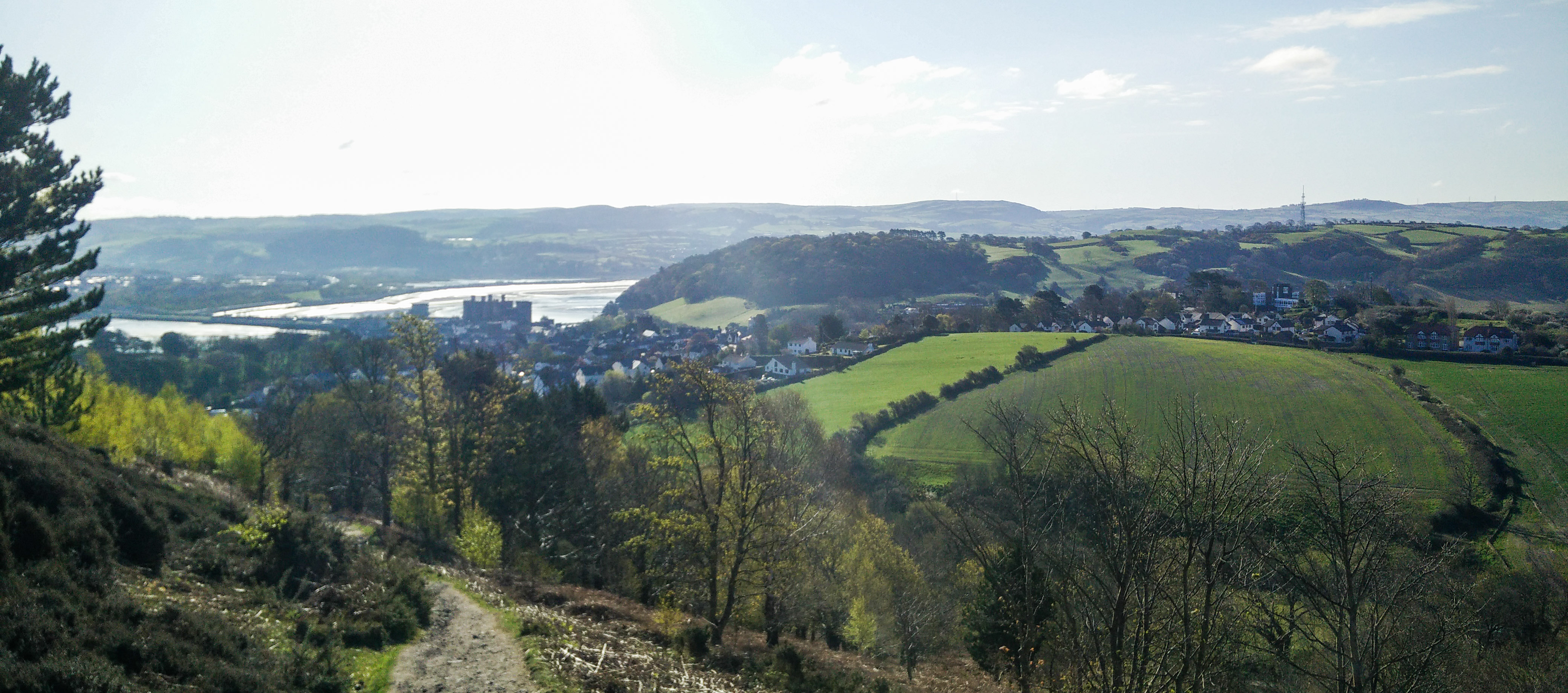 Conwy valley from the mountain