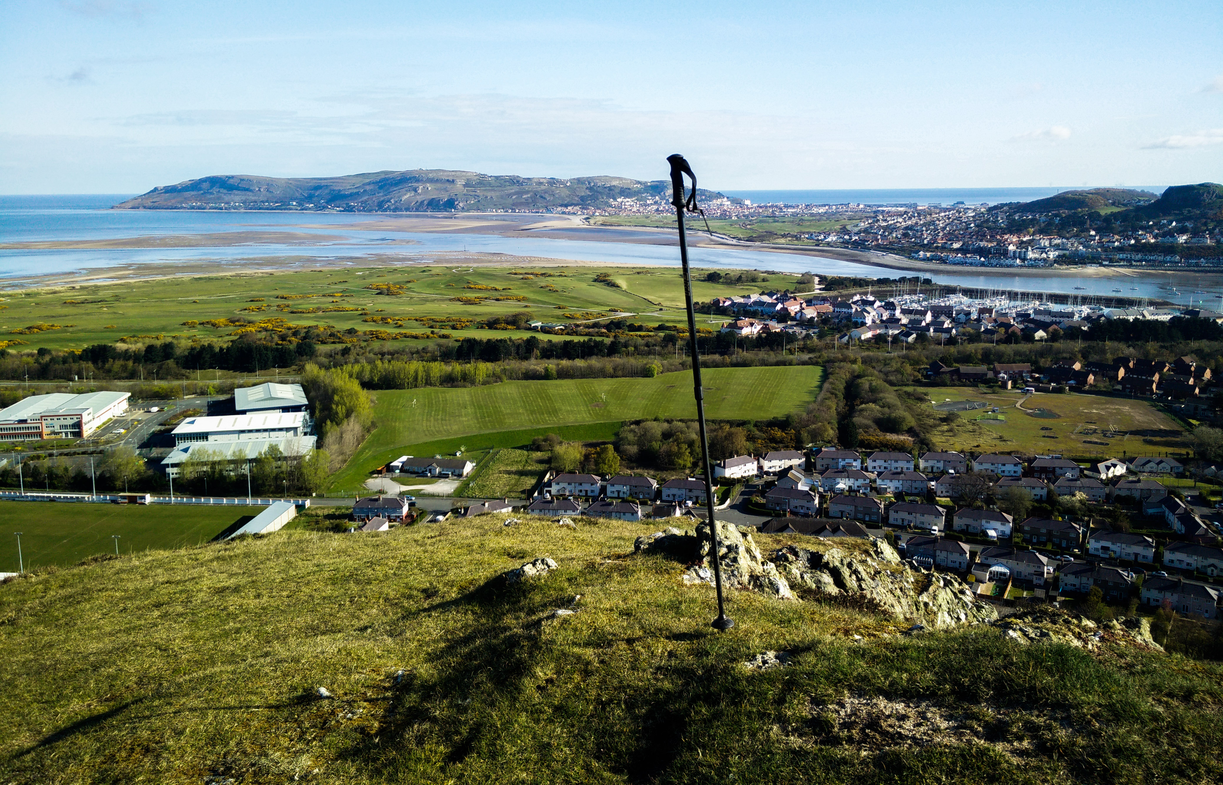 The view from Conwy Mountain over the bay and Llandudno