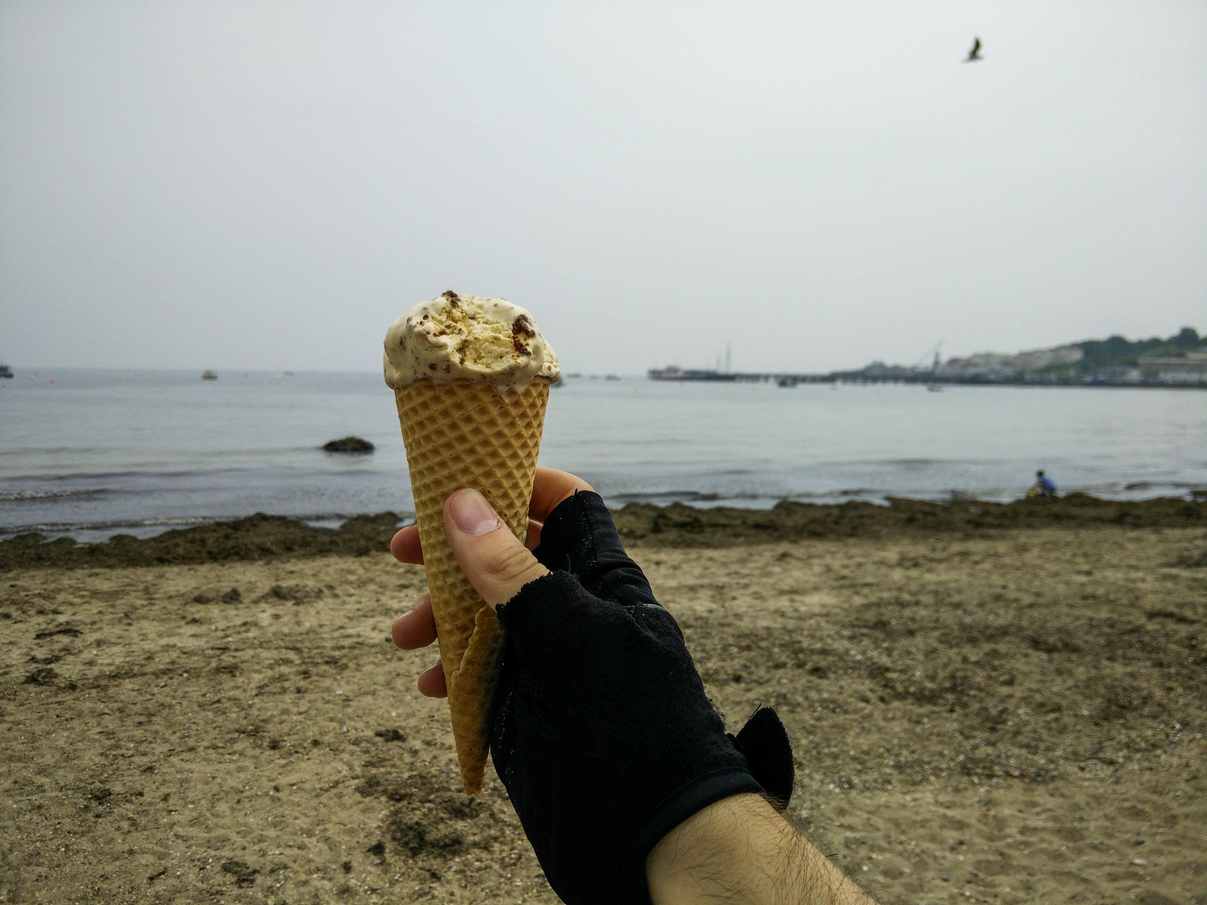 An ice cream on the seafront at Swanage.