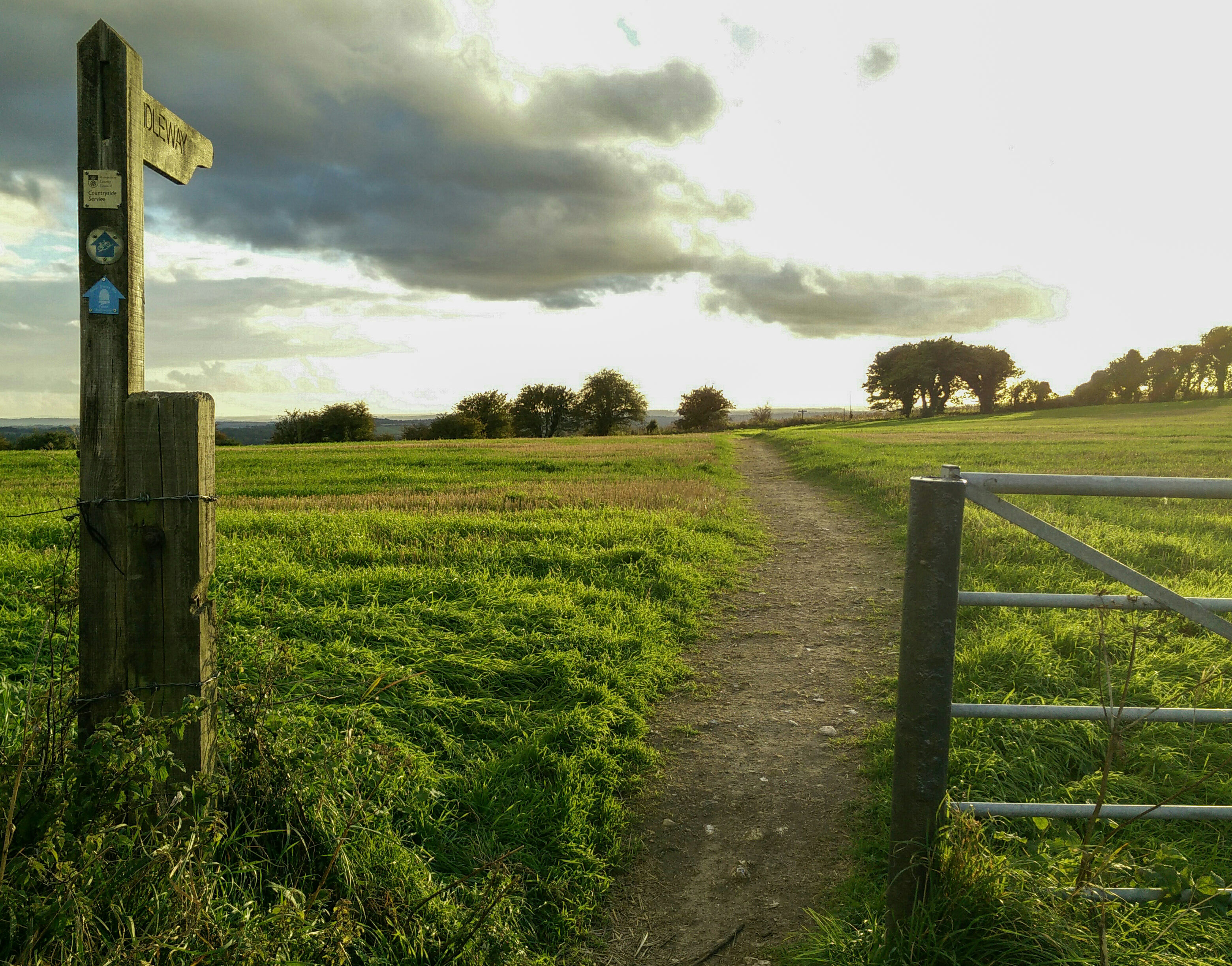 The bridleway just east of Winchester.